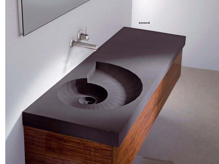 Dusche Armaturen Hightech Waschbecken Beton - My Lovely Bath - Magazin Für