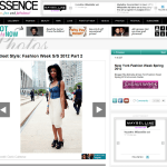 Fashion Week Streetstyle Feature: Essence.com