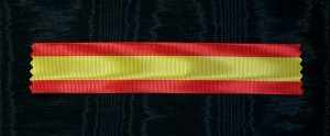 #SP020 - Spain, ribbon in national colors Medal of Honor (1858)