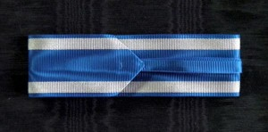 #RO018 Romania, Kingdom, Order of the Romanian Crown, type 1 (1881 – 1932), ribbon for Commander's Cross, 37 mm