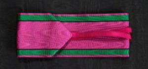 #GST100 - Saxony, Saxe-Ernestine House Order, ribbon for Commander