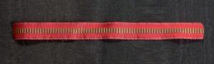 #ORRO011 – Romania, ribbon for Romanian anti - communism campaign miniature Medal
