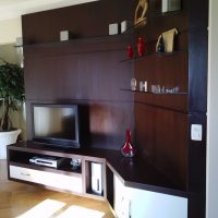 Home Theater - Painel e Rack Wengue