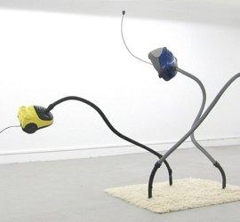 Piet and Me in a Nightmare, Roland Schmitz, 2011, Vacuum Cleaner, Mixed technique, 400 x 200 X 215 cm