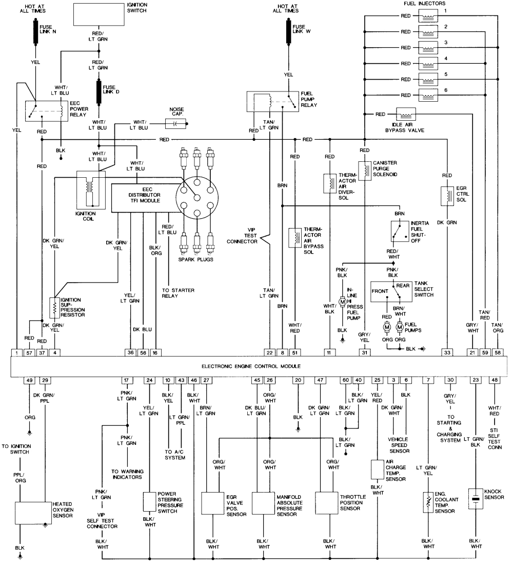 1989 ford bronco electrical diagram