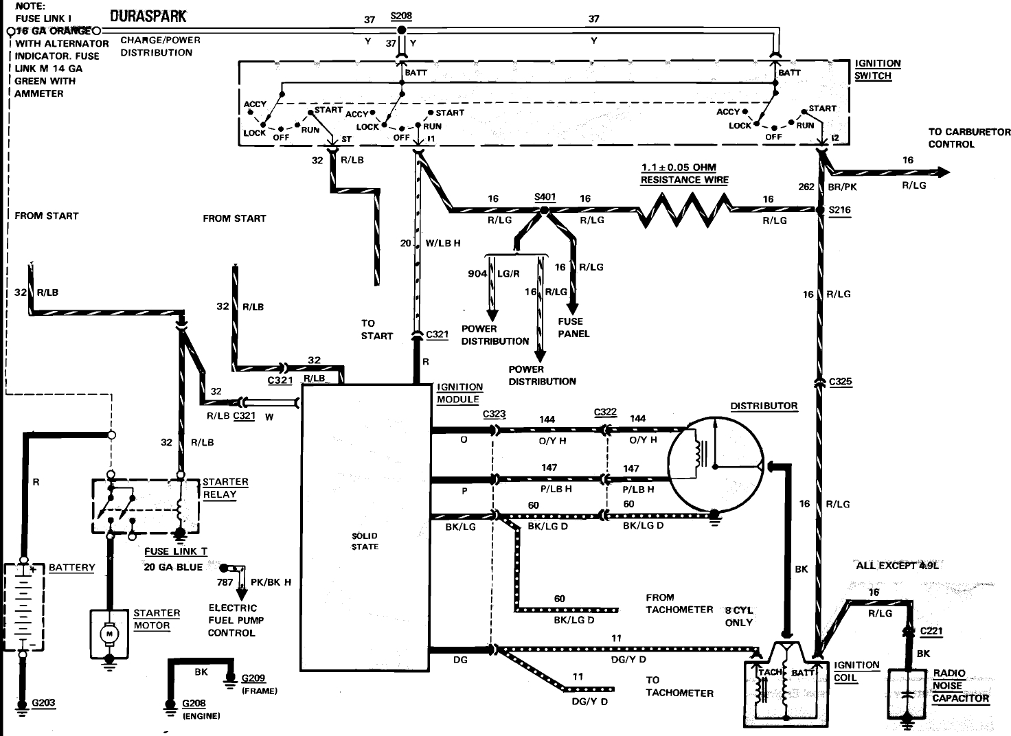 1984 mustang headlight wiring diagram