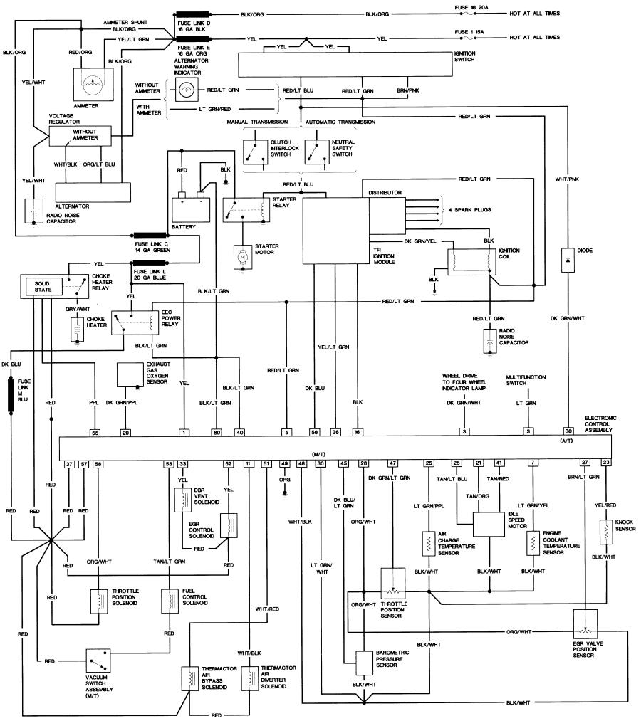 1990 mustang alternator wiring diagram pdf
