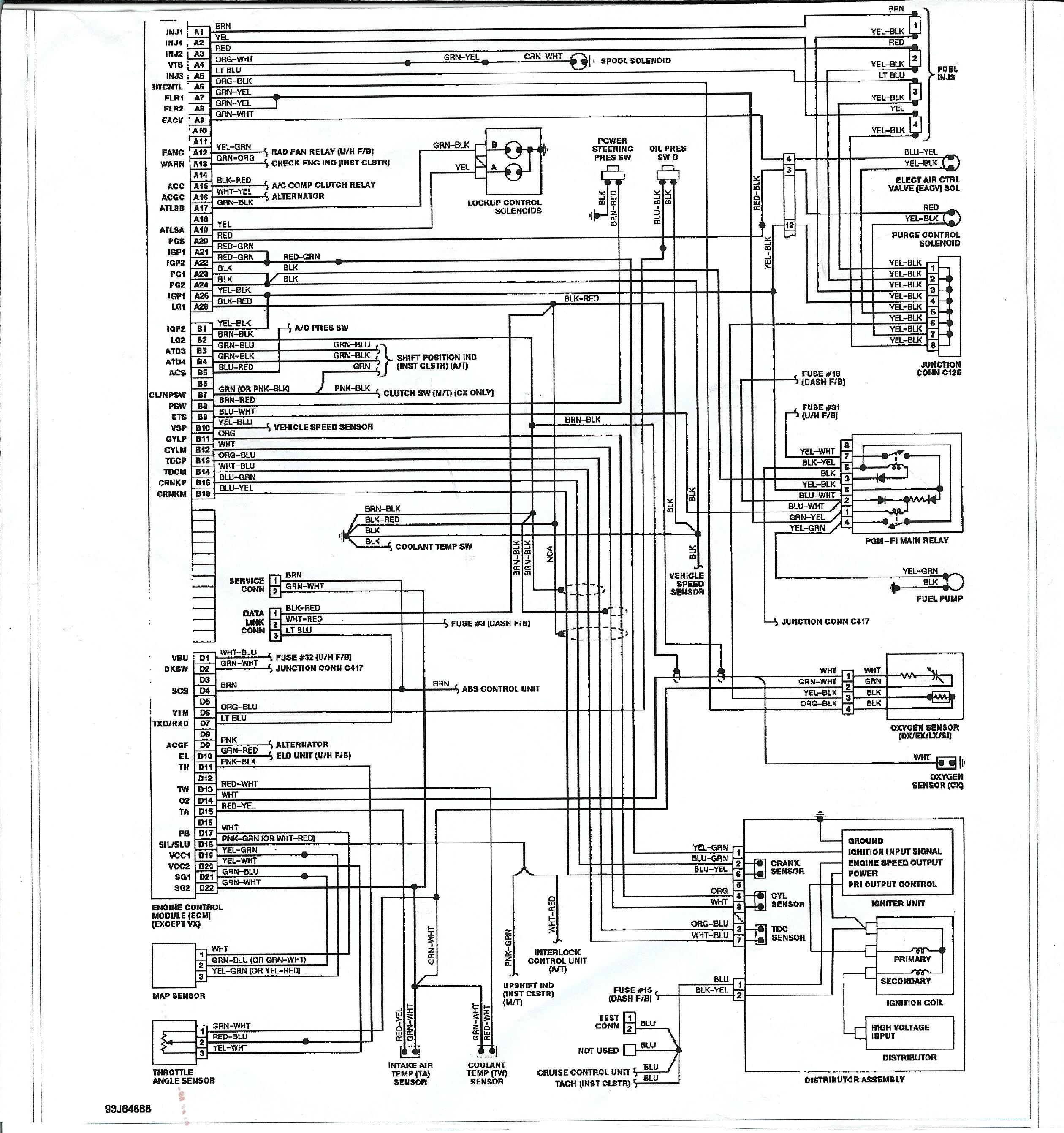 1994 honda civic wiring diagram
