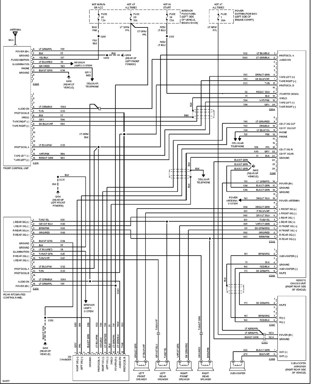 radio wiring diagram 2000 ford explorer