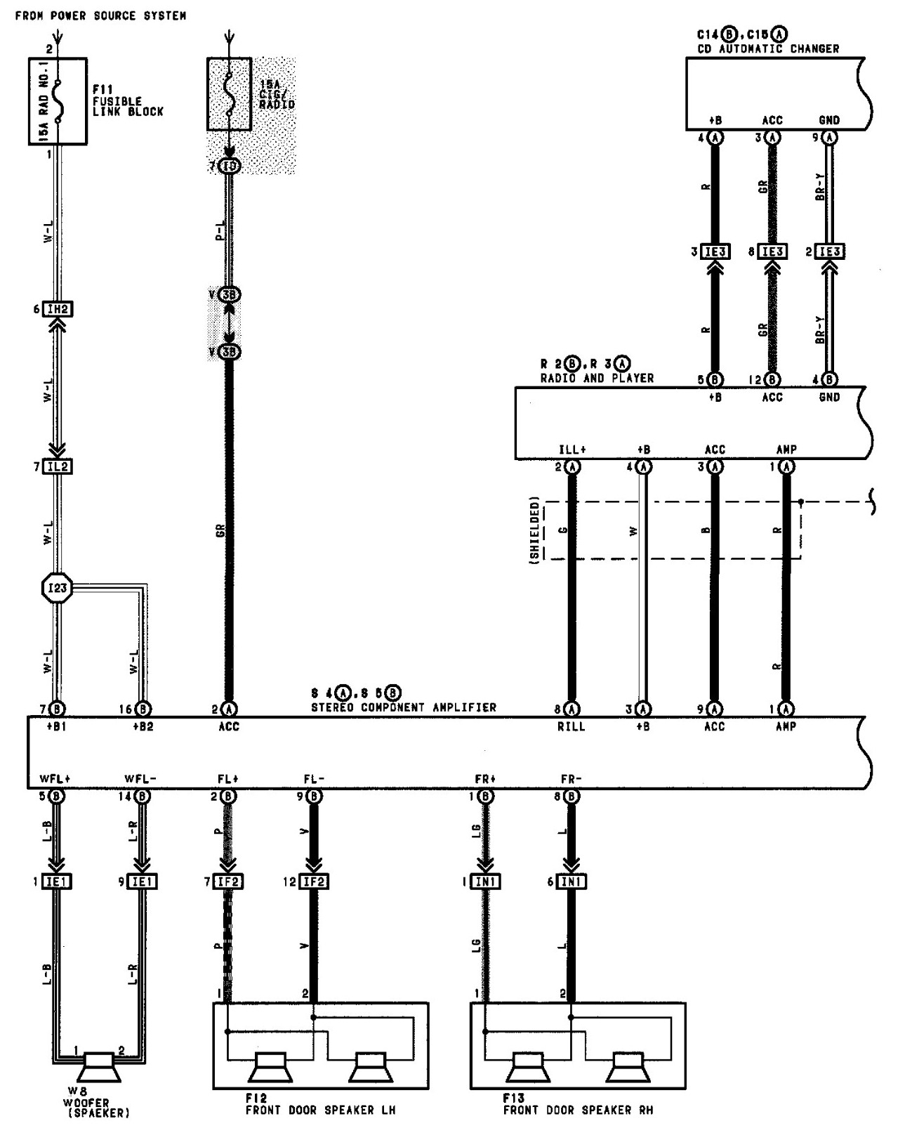 1997 camry stereo wire diagram