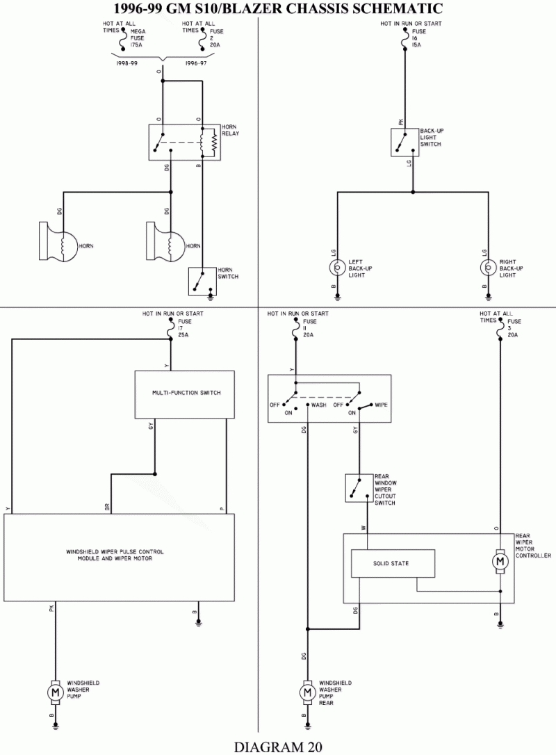 wiring diagram for 1995 chevy radio