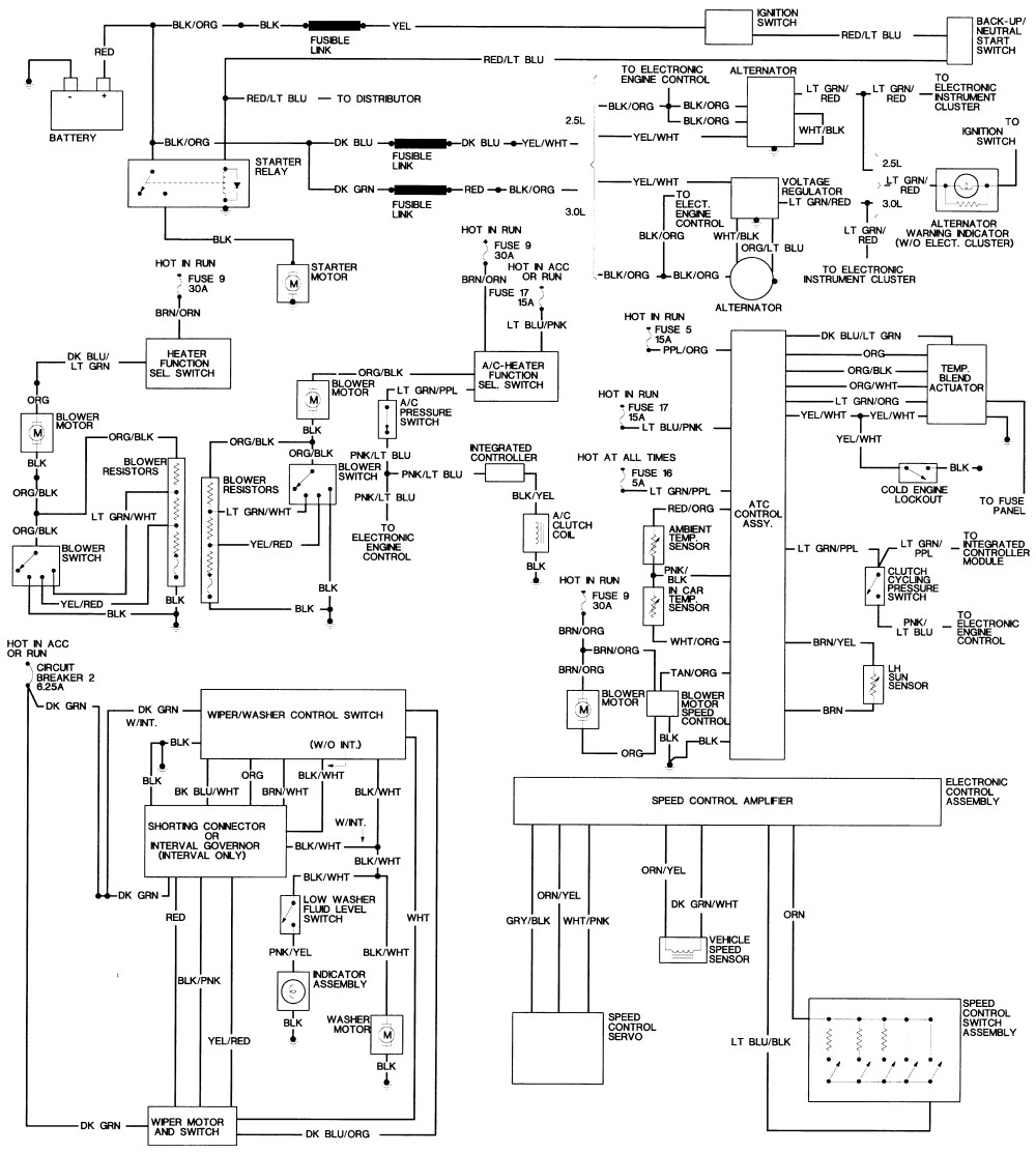 electronic wire diagram for a ford taurus