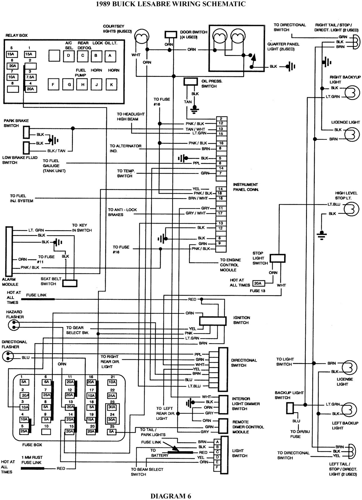 2002 buick rendezvous electrical diagram