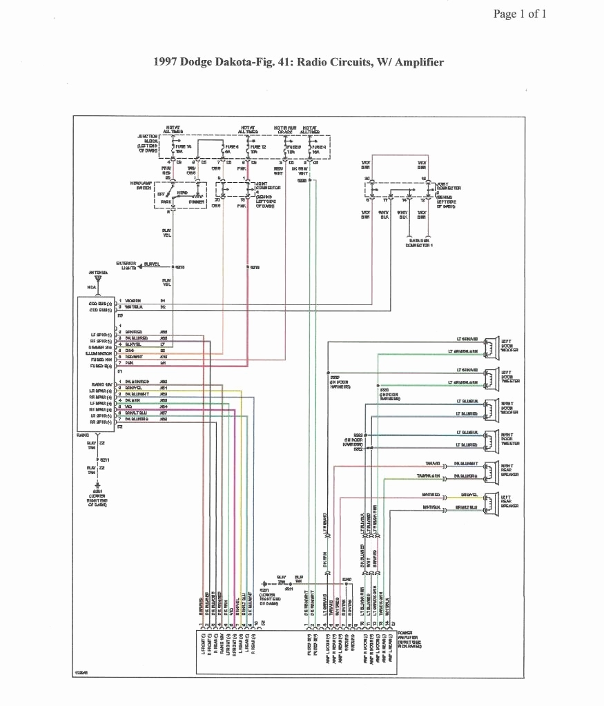 diagram on 99 durango stereo wiring
