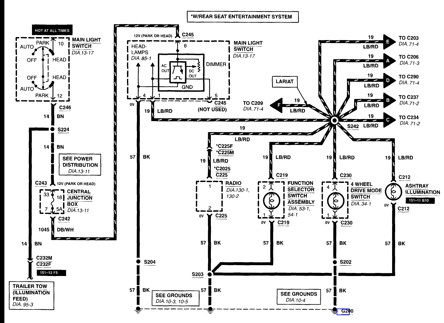 2001 ford f 150 light wiring diagram