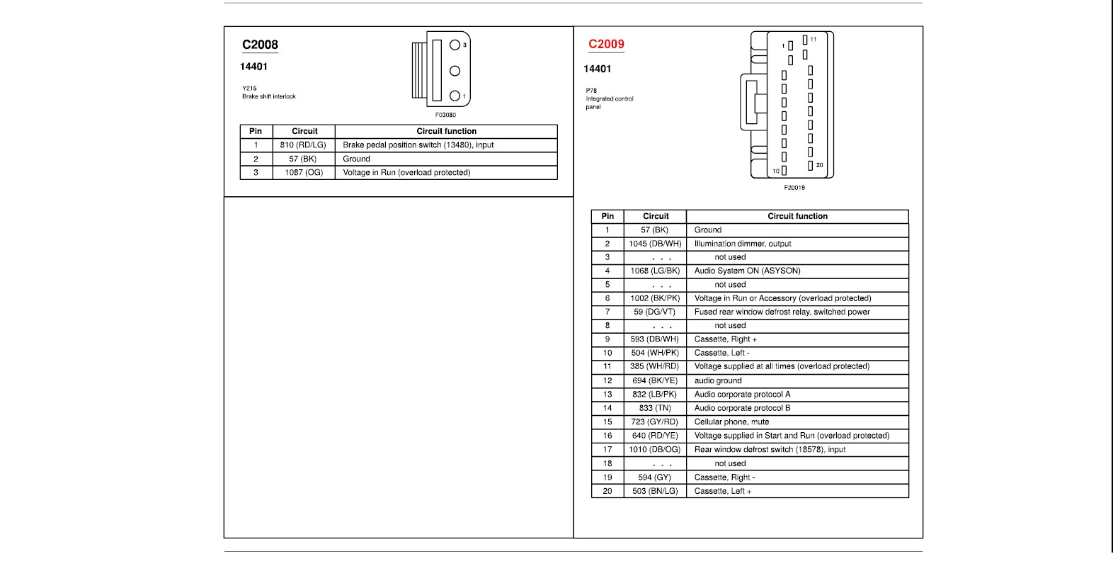 2001 Ford Explorer Sport Trac Radio Wiring Diagram
