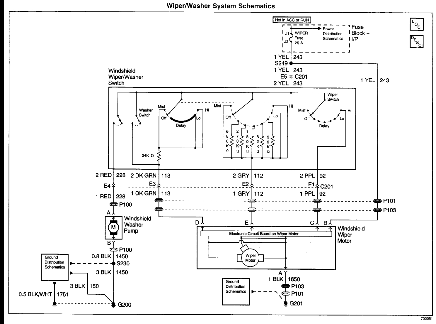 1998 buick wiper motor wiring diagram