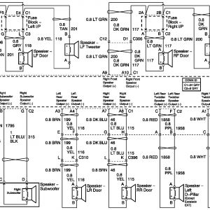 bose factory radio wiring diagram chevy