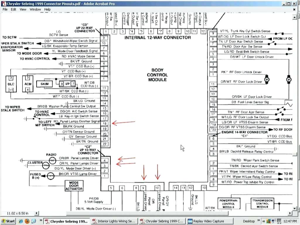 chrysler crossfire radio wiring diagram