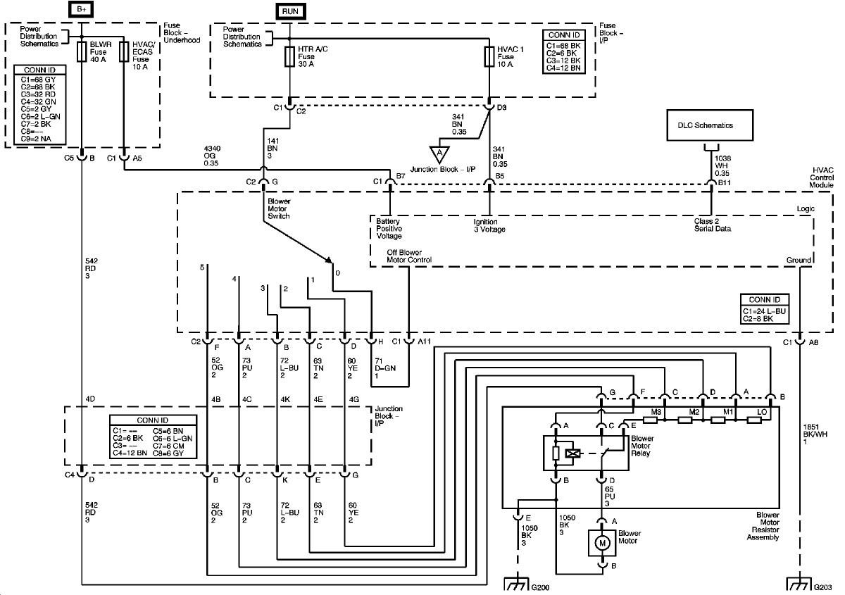 2006 silverado blower resistor wiring diagram