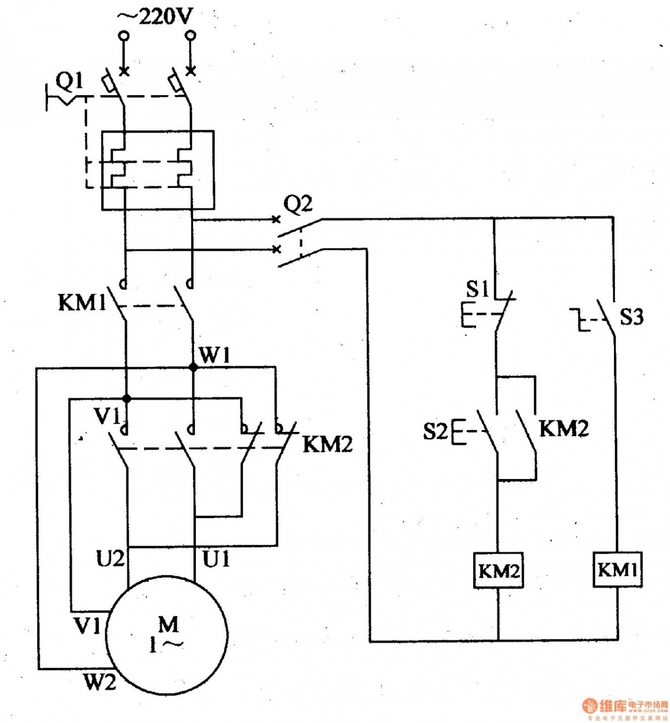 3 phase submersible pump starter circuit diagram