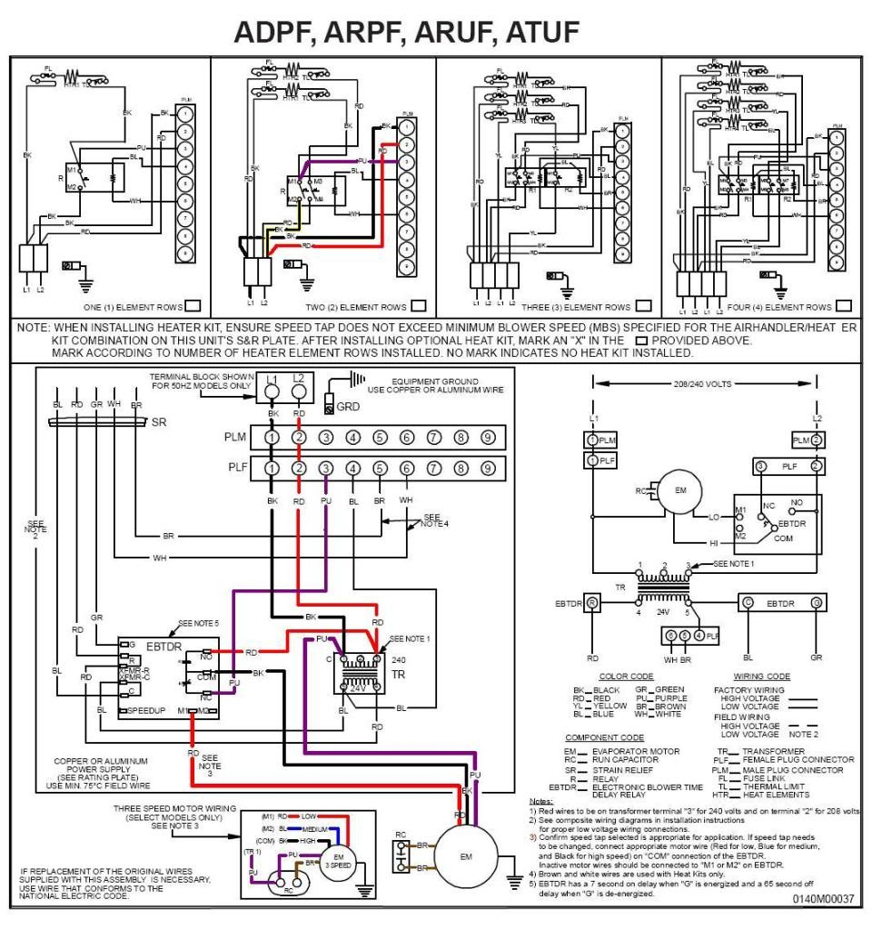 package type air conditioner wiring diagram