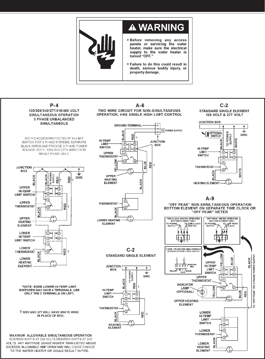 marathon water heater wiring diagram