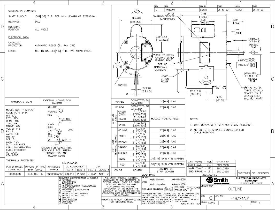 ao smith motor wiring diagram s56c23a01