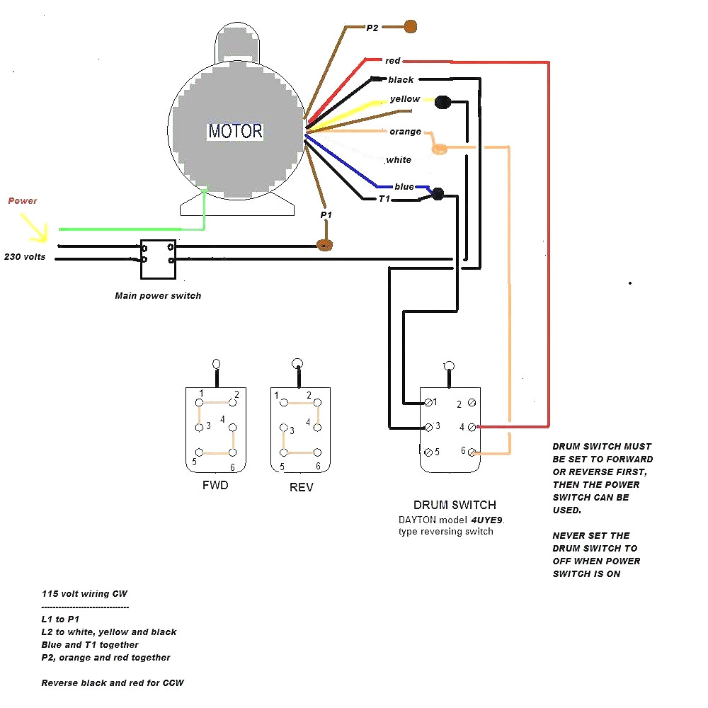 baldor wiring diagram single phase