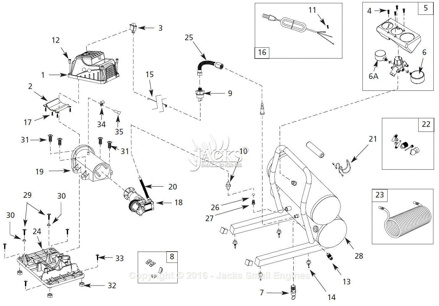 rancho airpressor wiring diagram