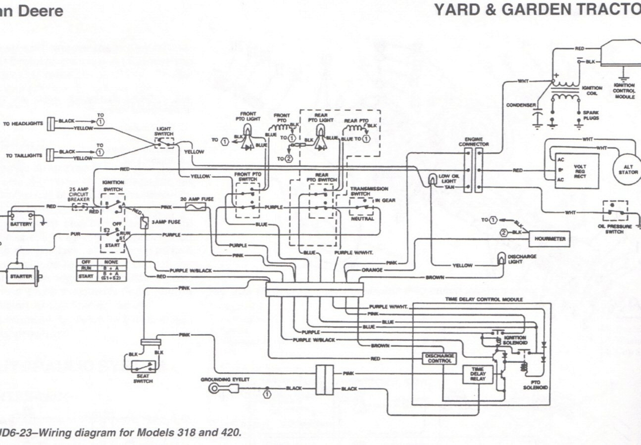 john deere 318 ignition wiring diagram