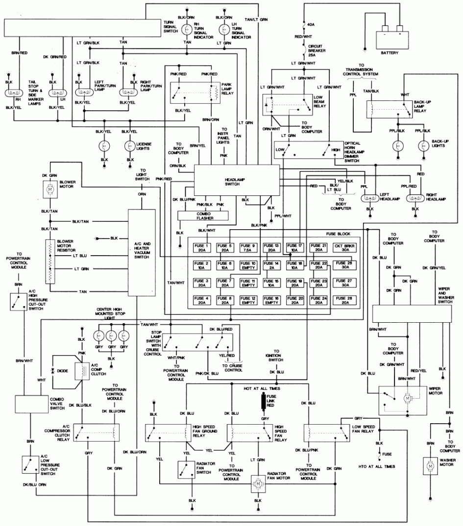 2000 chrysler town and country turn signal wiring diagram