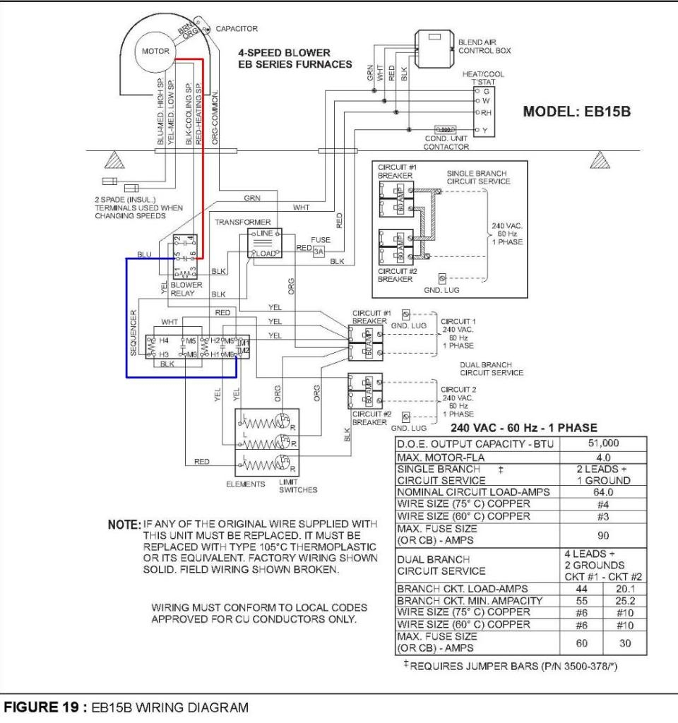 wiring diagram for electric furnace