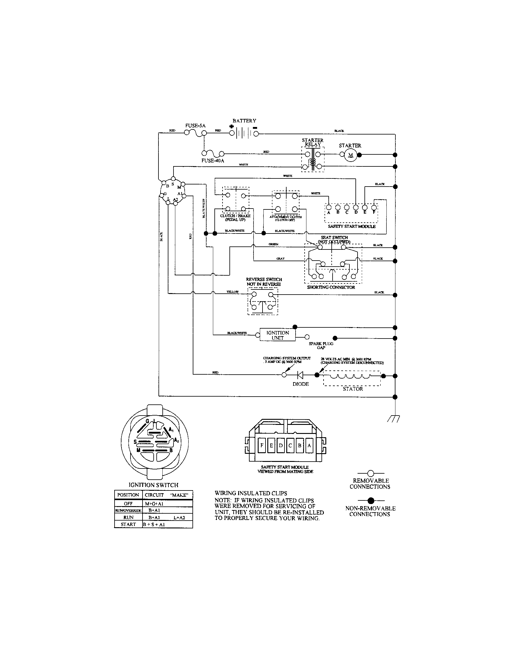 craftsman mower electrical schematic