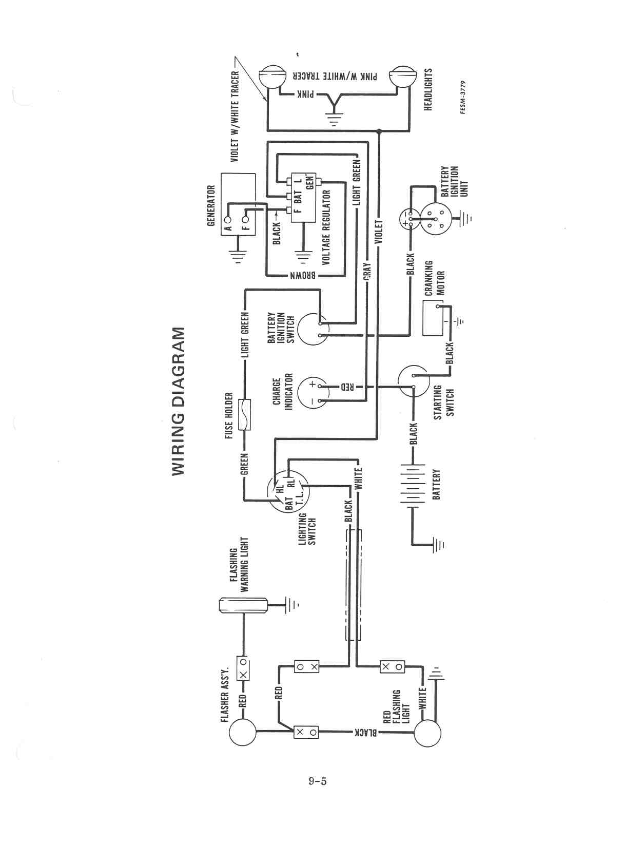 farmall h wiring diagram schematic