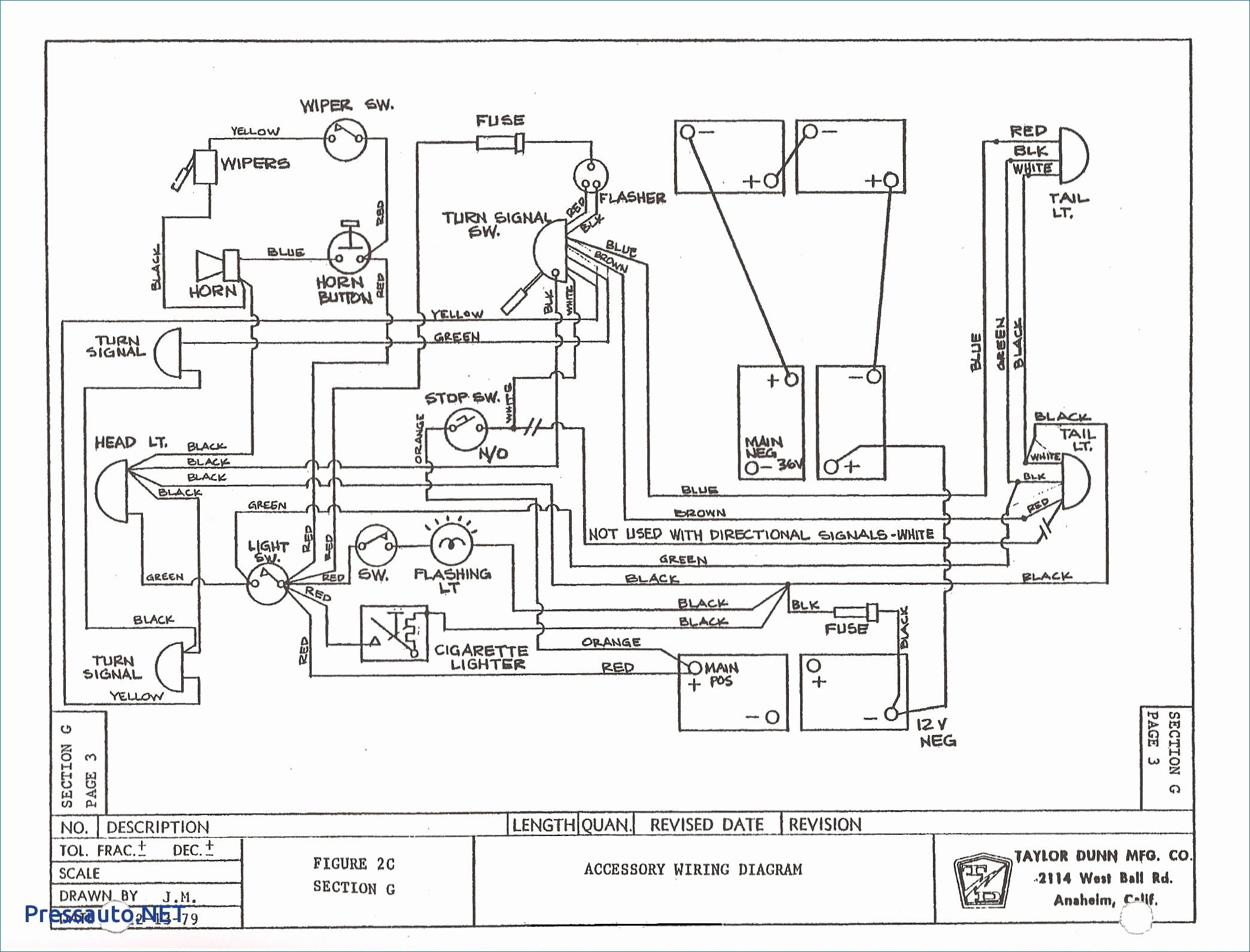 turn signal schematic diagram for ez go