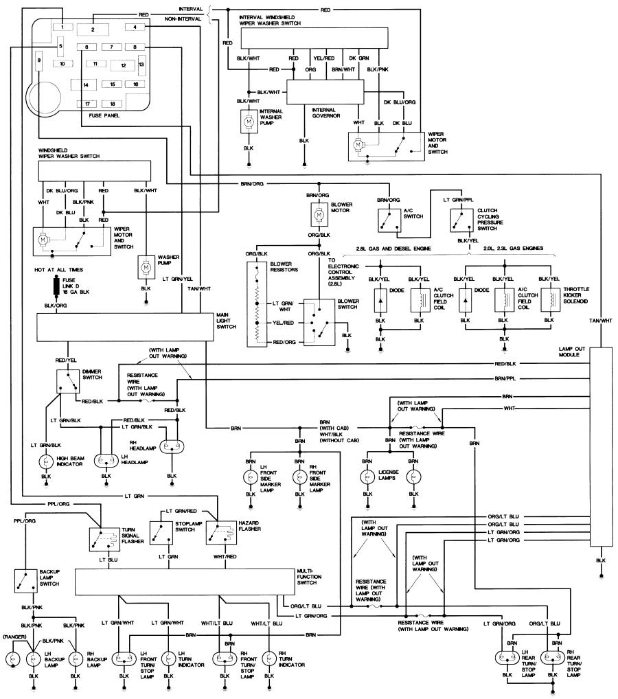 1987 bronco ii wiring diagram