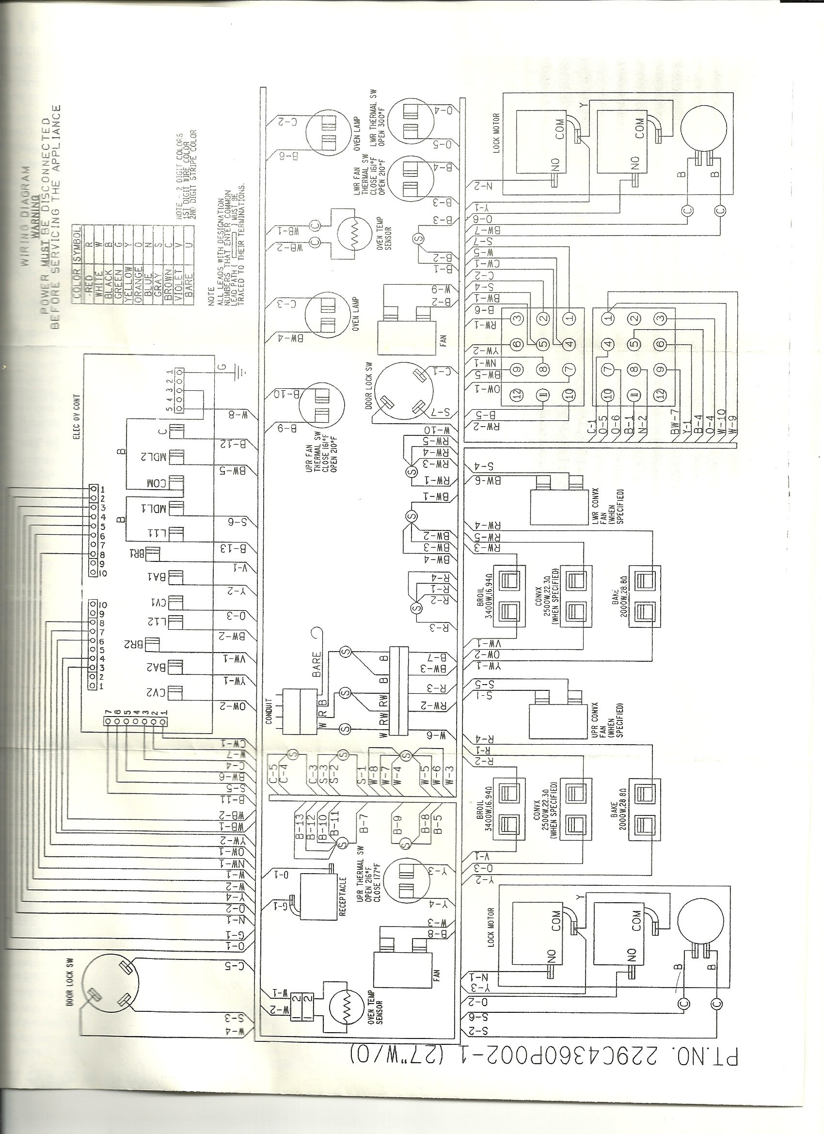 electric stove switch wiring diagram