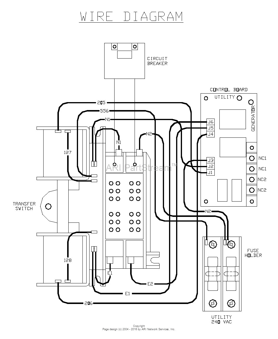 generac transfer switch diagram