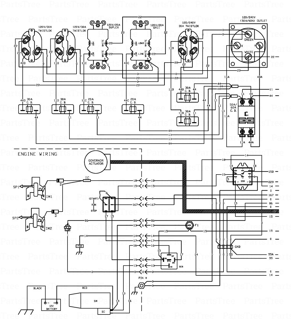 wiring diagram portable generator house