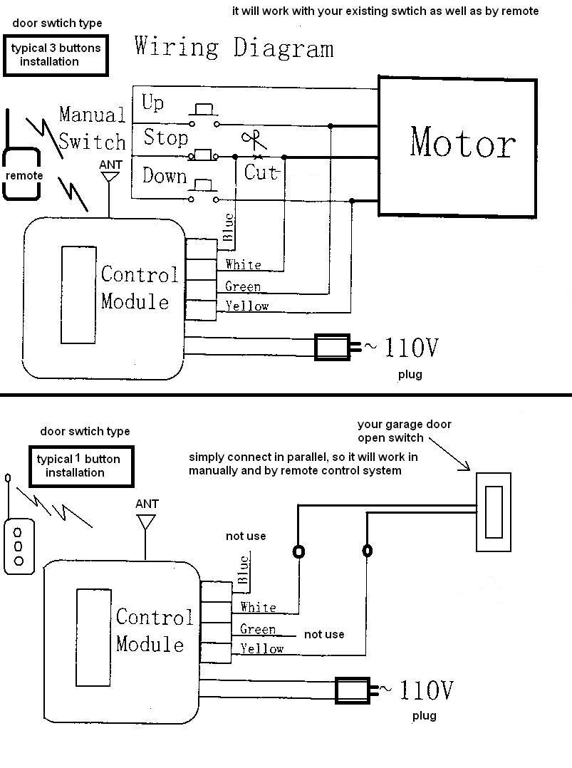 wiring diagram for electric garage door
