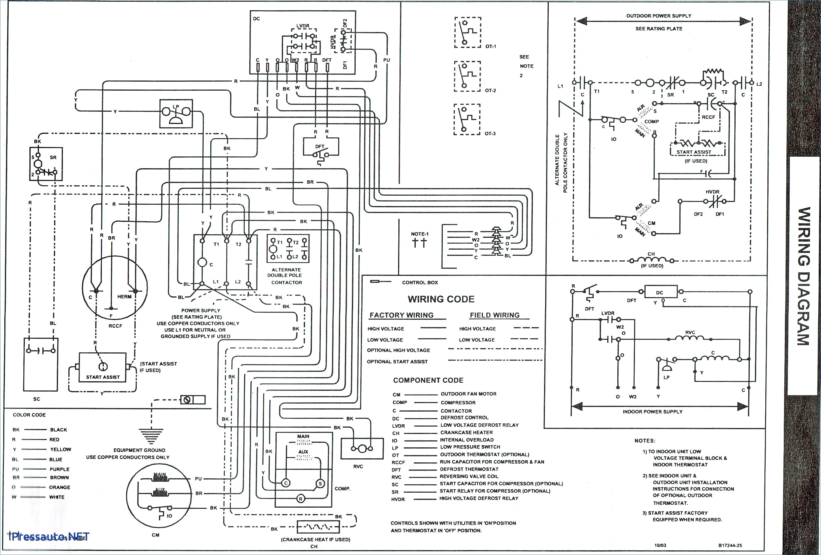 goodman hvac wiring diagrams