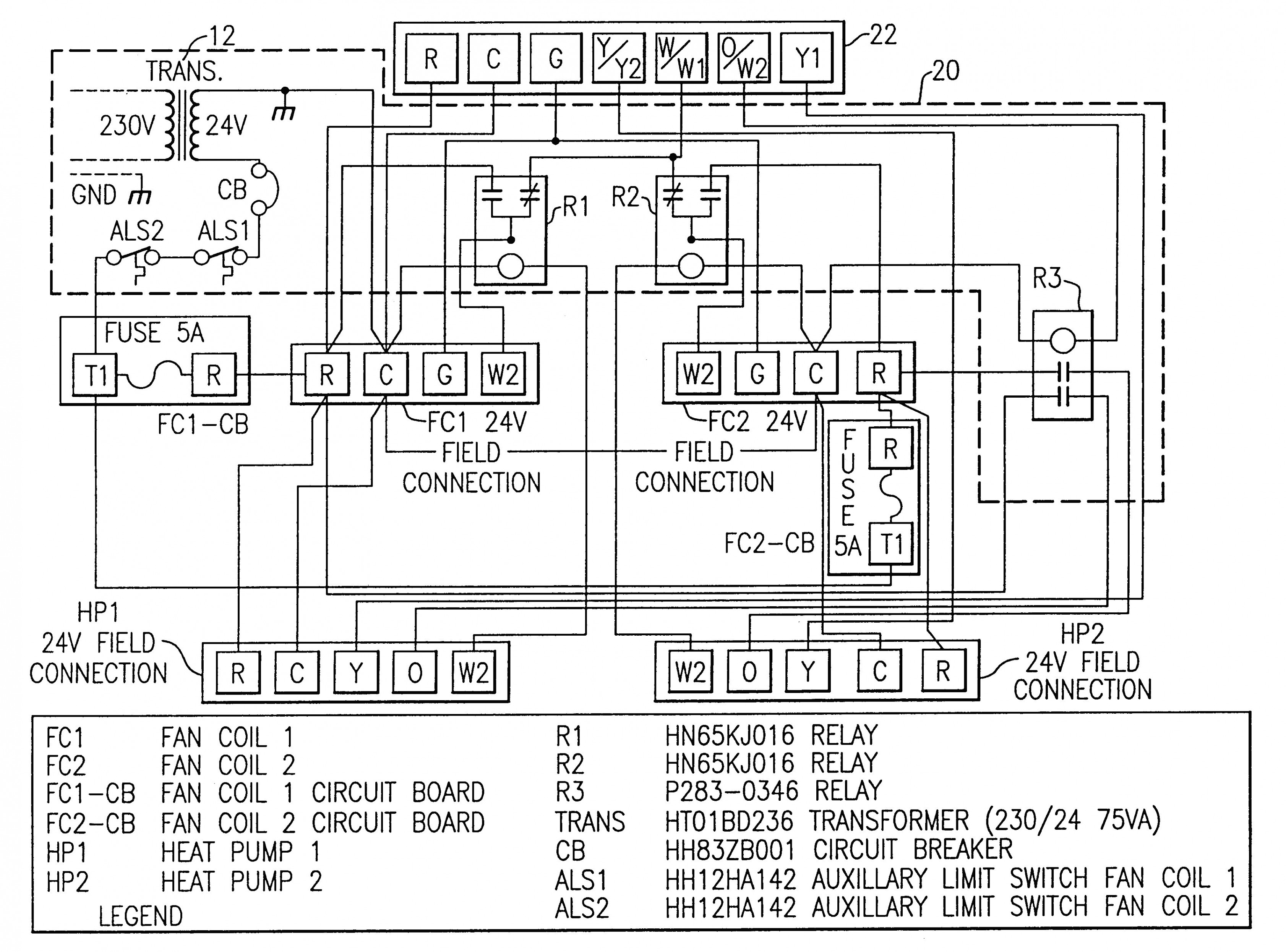 package unit thermostat wiring