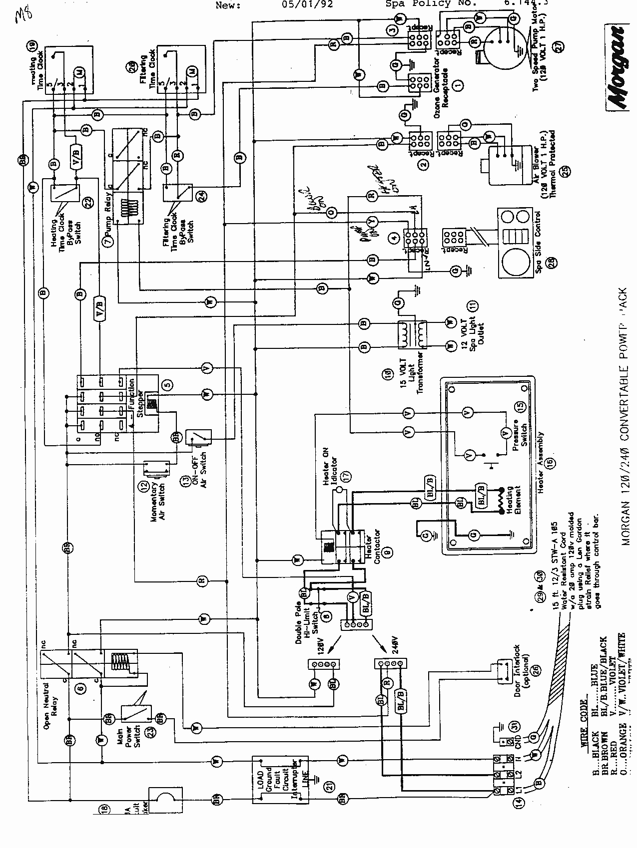 spa wiring schematic
