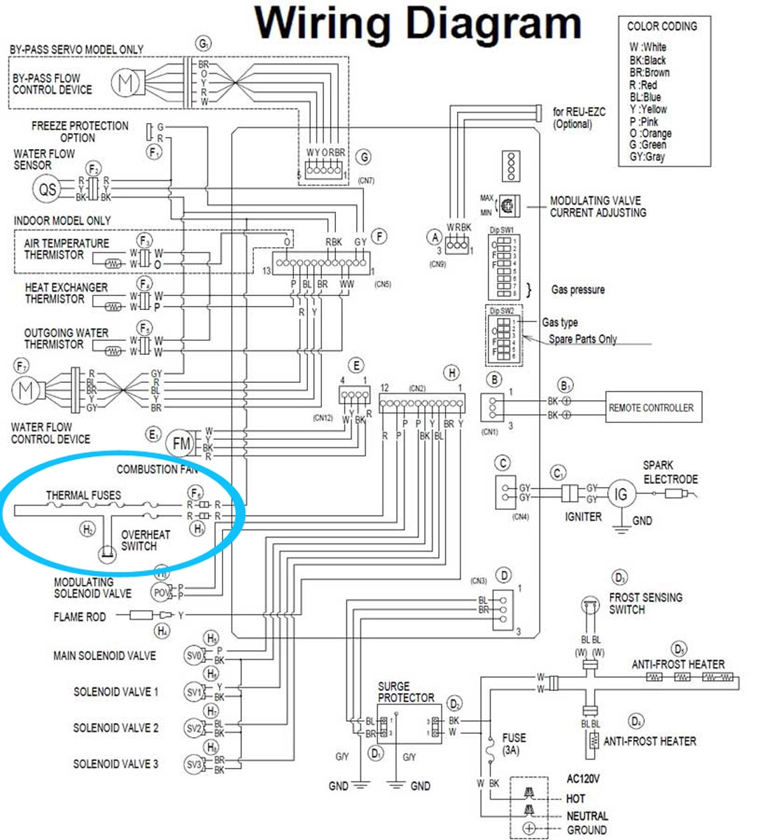 wiring diagram for central heating and hot water
