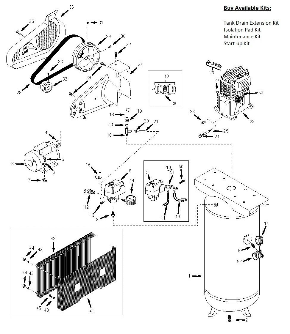 wiring diagram for 220 air compressor