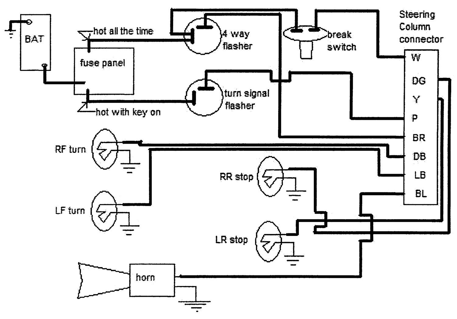 steering column wiring diagram collection ididit steering column