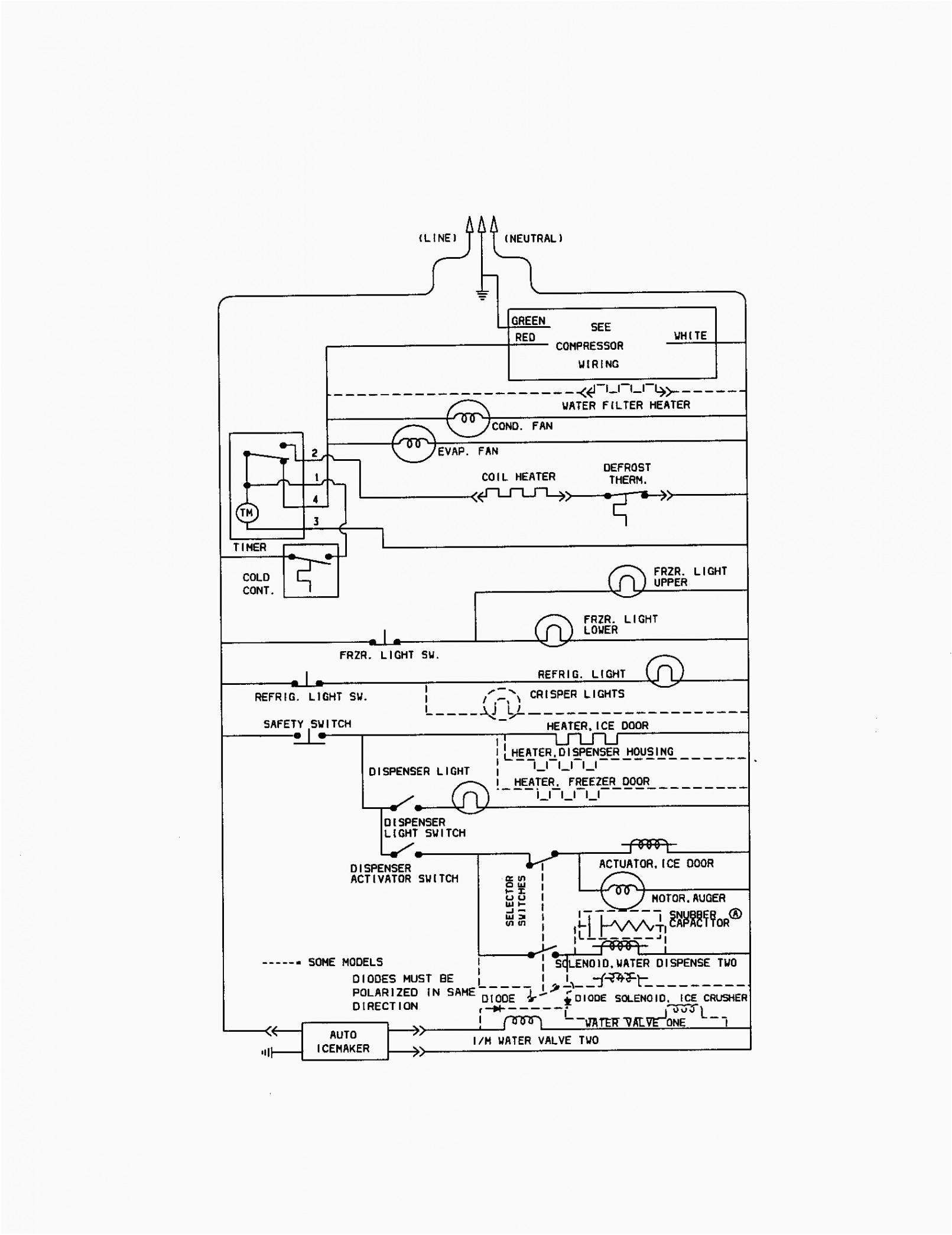 refrigerator schematic wiring