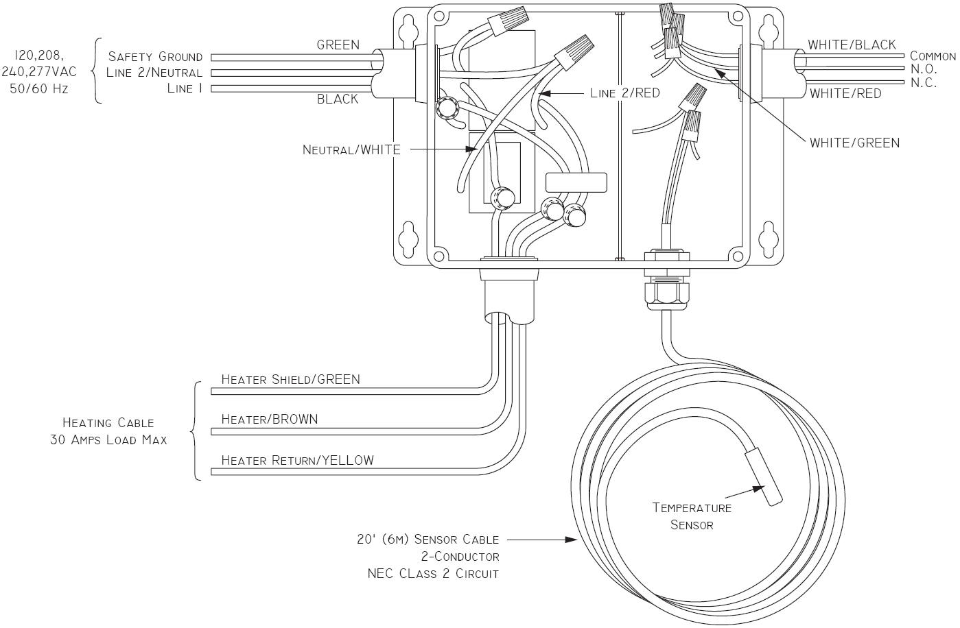 thermostat wiring diagram garage heater