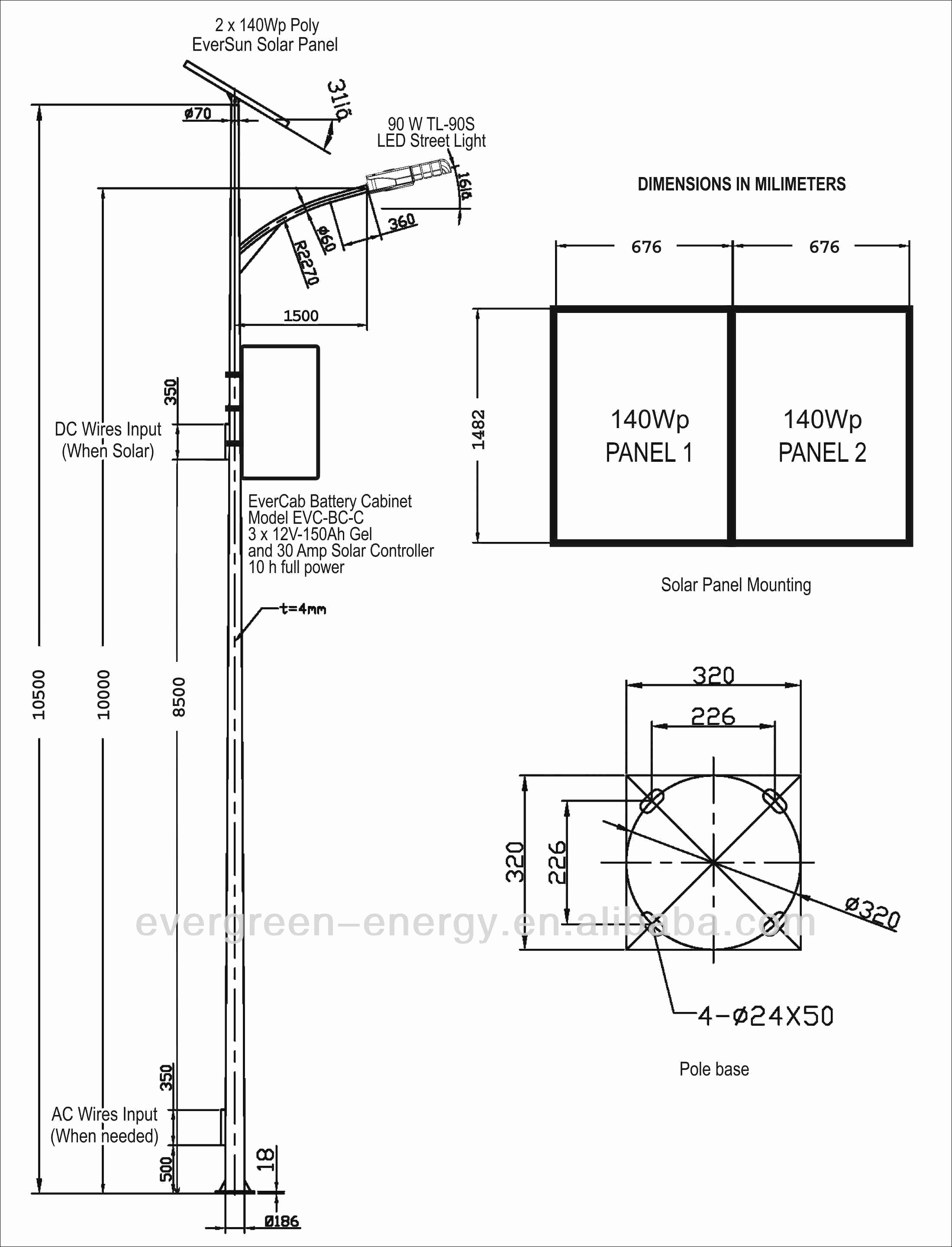 led solar street lights wiring diagram